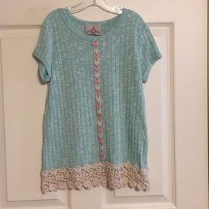 Other - Girls Sweater With Lace Accents